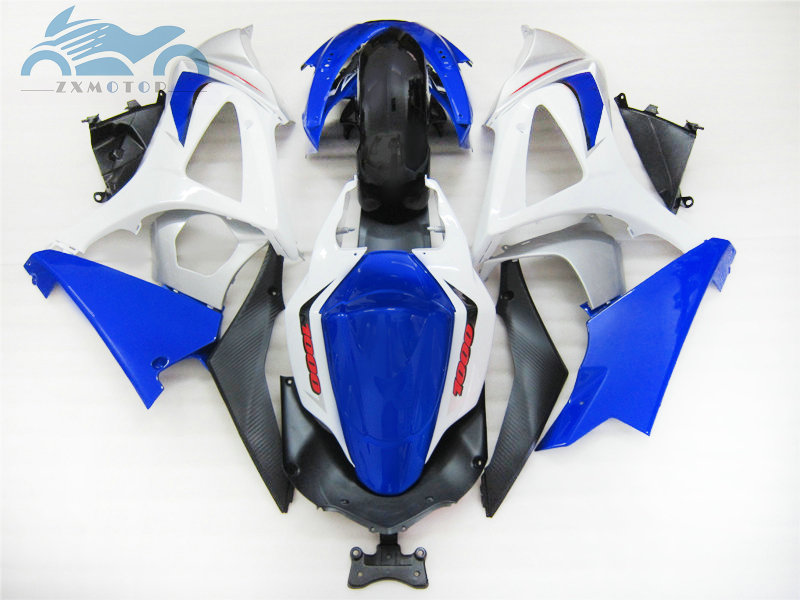 Upgrade body Fairing <font><b>kits</b></font> for <font><b>Suzuki</b></font> GSXR 1000 <font><b>GSXR1000</b></font> 2007 2008 K7 <font><b>K8</b></font> motorcycles street fairings <font><b>kit</b></font> 07 08 blue white GS26 image