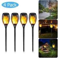 33LED 51LED Flamme Solar Taschenlampe Licht Wasserdicht Flackern Garten Lampe Im Freien Landschaft Dekoration Rasen Licht