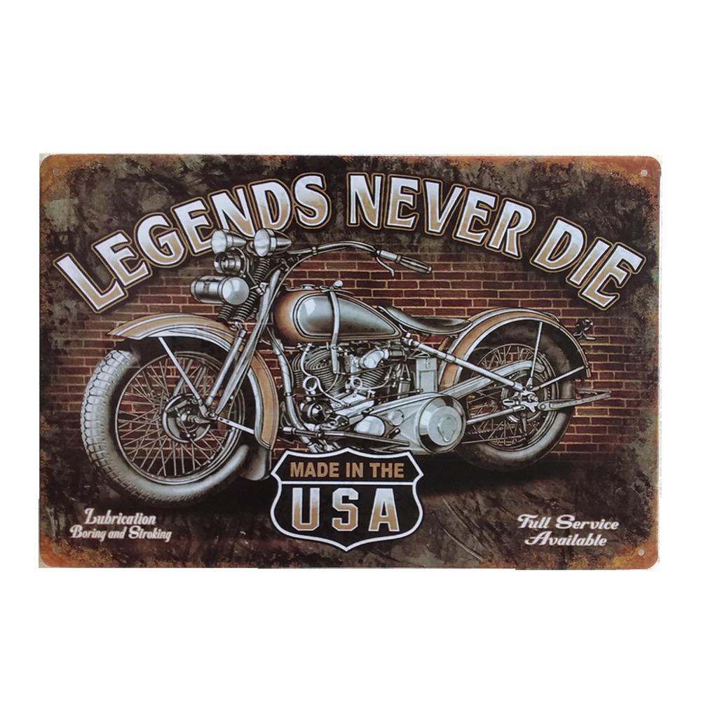awesome motorcycle retro style iron sign painting decorative signs plaque vintage metal tin sign. Black Bedroom Furniture Sets. Home Design Ideas