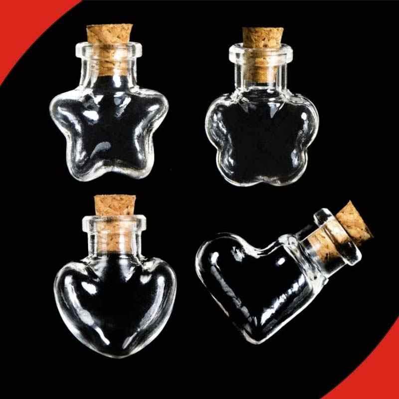 1PC จุกปิดขวดแก้ว DIY ขายร้อนข้อความ Vials ราคาถูกขวดแก้วยอดนิยม Wishing ขวด Mini ภาชนะขนาดเล็ก