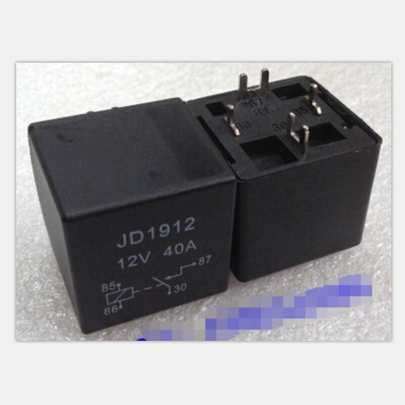 5pcs lot JD1912 40A automotive relay 12VDC PCB type 4pin normally open relay legs cut legs 5pcs lot jd1912 40a automotive relay 12vdc pcb type 4pin normally