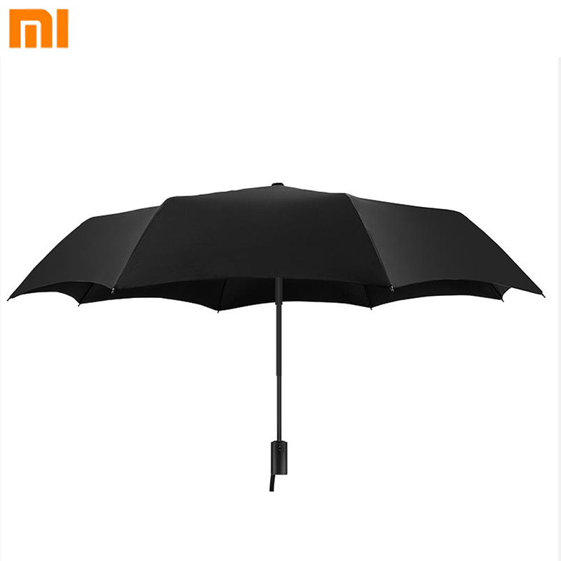 Smart Remote Control Xiaomi Umbrella Automatic Sunny Rainy Bumbershoot Aluminum Windproof Waterproof Uv Parasol Man Woman Summer Winter Sunshade