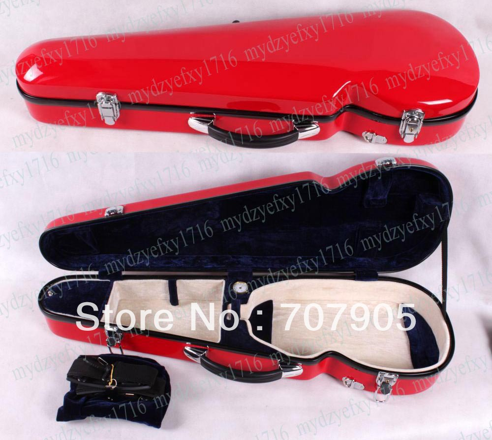 4/4 violin Water Proof Glass fiber case Light Durable High quality Dropshipping Wholesale Red  цены