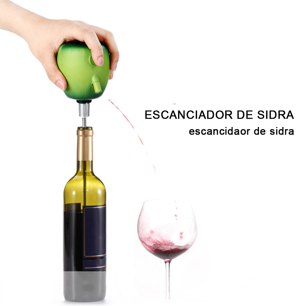 1 piezas eléctrica vino Pourer sidra jarra bomba Apple diseño de grado alimentario de acero inoxidable lechón verter el vino accesorios para el hogar bar