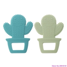 New Cute Cactus Baby Teether Pacifier Teething Nursing Silicone BPA Free Necklac