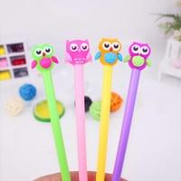 48pcs/lot Cute Cartoon Creative Stationery Night Owl Gel Pen Sign Pen Office School Roller Ball Pens Writing Tool