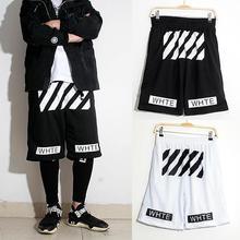 Мужские шорты sprot Off белый саржа печатных досуг черные мужчины и женщины шорты homme Pyrex 23