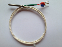 משלוח חינם באיכות 10pc טמפרטורת חיישן pt1000 2B heraeus pt1000 בדיקה 4*30 מים הוכחת טמפרטורת חיישן PTFE 1M