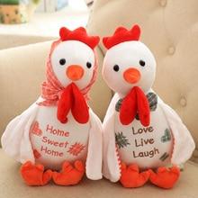 Игрушек! Супер милая плюшевая игрушка страна пасторальный цыпленок кукла пара петух талисман любовник девушки креативный подарок на день рождения 1p