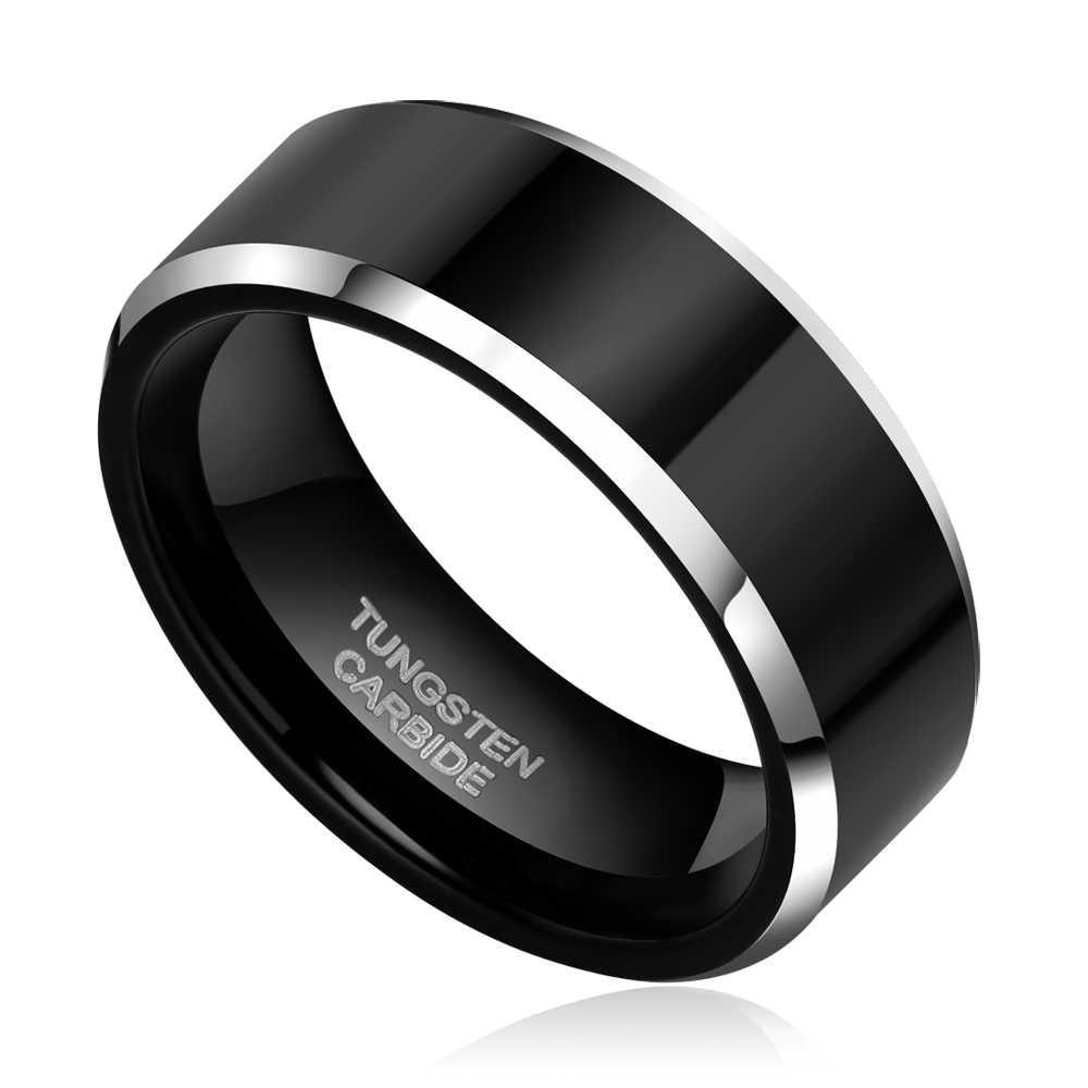 2pcs 8mm 6mm Women Men Black Tungsten Carbide Ring Wedding Band Promise Marriage Couples Rings Set Fashion Alliance Jewelry Fashion Ring Set Ring Setring Wedding Aliexpress