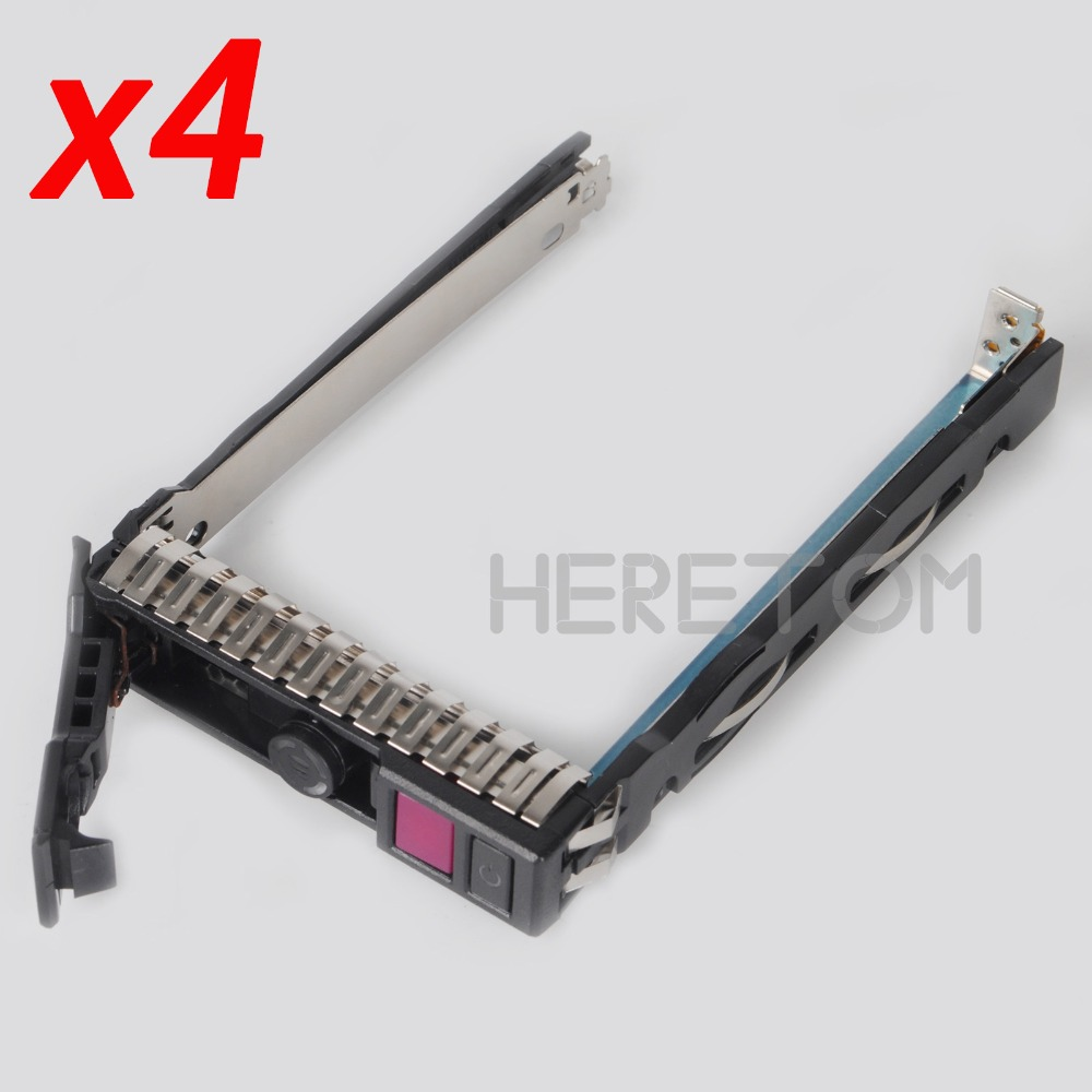 4PCS Express Free Shippping Hot-Plug 2.5inch NVMe Hard Drive Tray Caddy 727695-001 For HP G10 Gen10 Server HDD Caddy Bracket