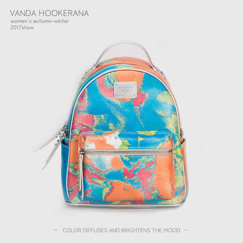 Vanda Hookerana 2017 Women Backpack Colorful Fashion Art Bags Honeydew Color Female Personality Trend Bags Microfiber Backpack vanda robert s delight купить