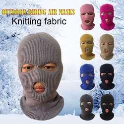 Армейская тактическая маска 3 отверстия полная маска для катания на лыжах маска Зимняя кепка капюшон-Балаклава новая