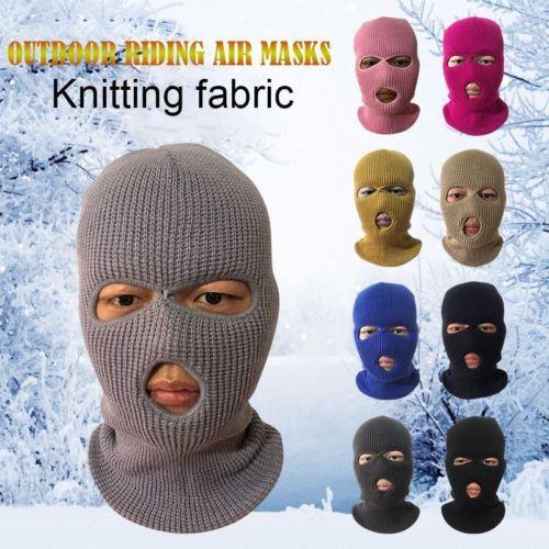 Armée Tactique Masque 3 Trous Masque Complet Masque de Ski D'hiver Casquette Cagoule Moto Casque Moto Casque Intégral NOUVEAU