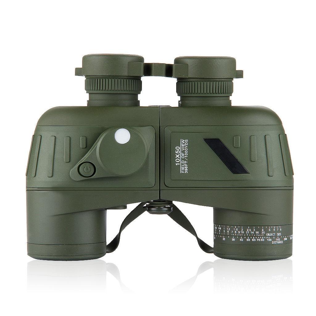 Waterproof 10x50 Marine Outdoor Binoculars Built-in Rangefinder Compass universal waterproof bag w built in compass armband strap for iphone cellphone black
