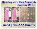 Chassis habitação completo para iphone 6 6g 6 s 7 7g habitação assembléia Voltar habitação porta da bateria caso capa fundas réplica Personalizado IMEI