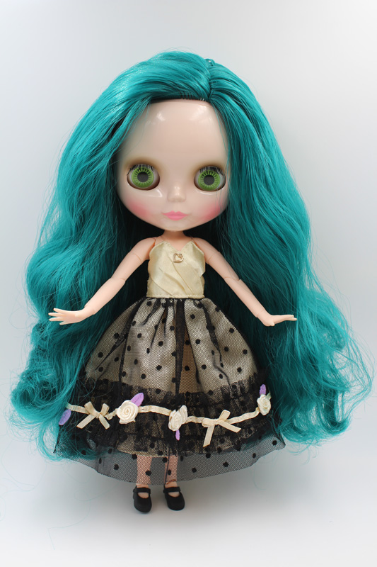 цена на Free Shipping BJD joint RBL-223J DIY Nude Blyth doll birthday gift for girl 4 colour big eyes dolls with beautiful Hair cute toy
