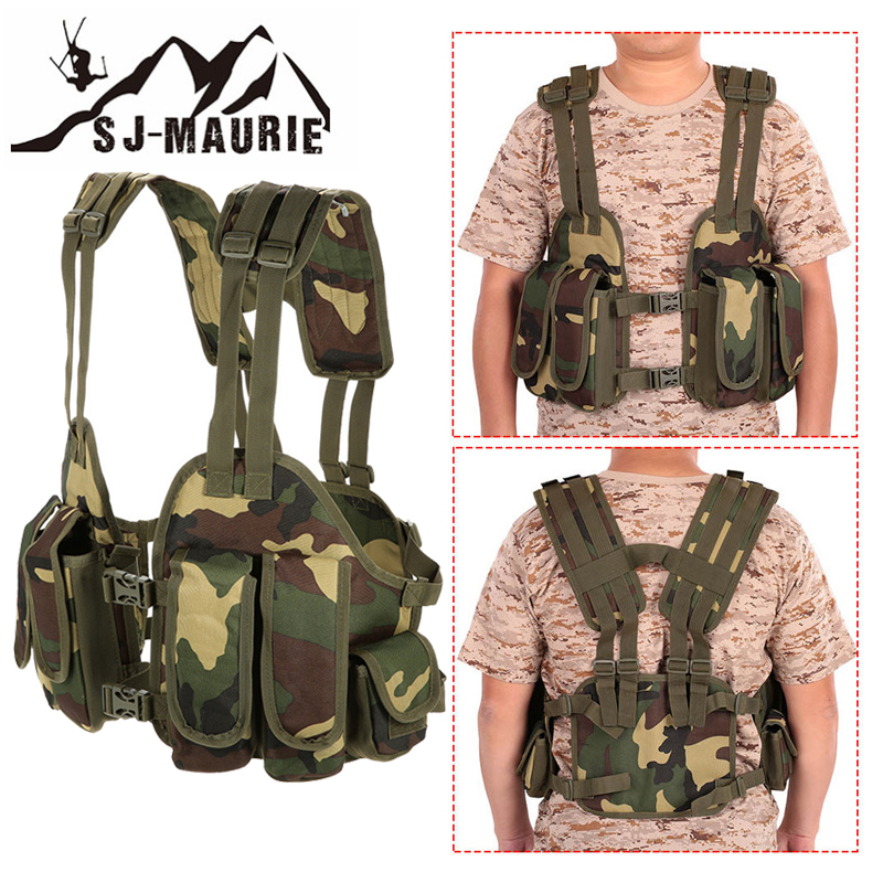 Outdoor Hunting Vest chalecos airsoft  Chest Bag