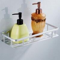 OUSSIRRO Grade Popular Space Aluminum Bathroom Shelf Bath Shampoo Rack Towel Basket Wall Mounted Bathroom Wall