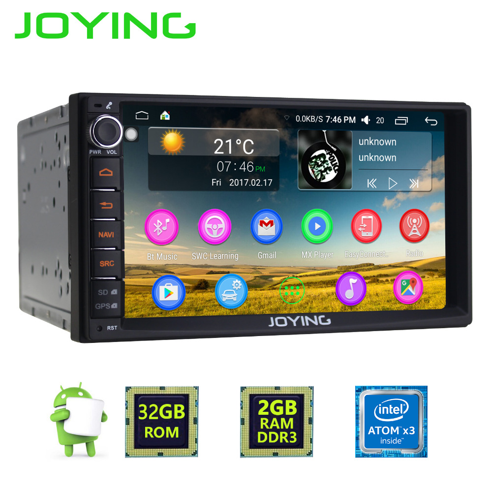 New JOYING 2GB RAM Android 6.0 marshmallow Car Audio Stereo GPS Navigation Double 2 Din Multimedia Player support DAB+/DVR/OBD2 the hermitage great collections of a great museum