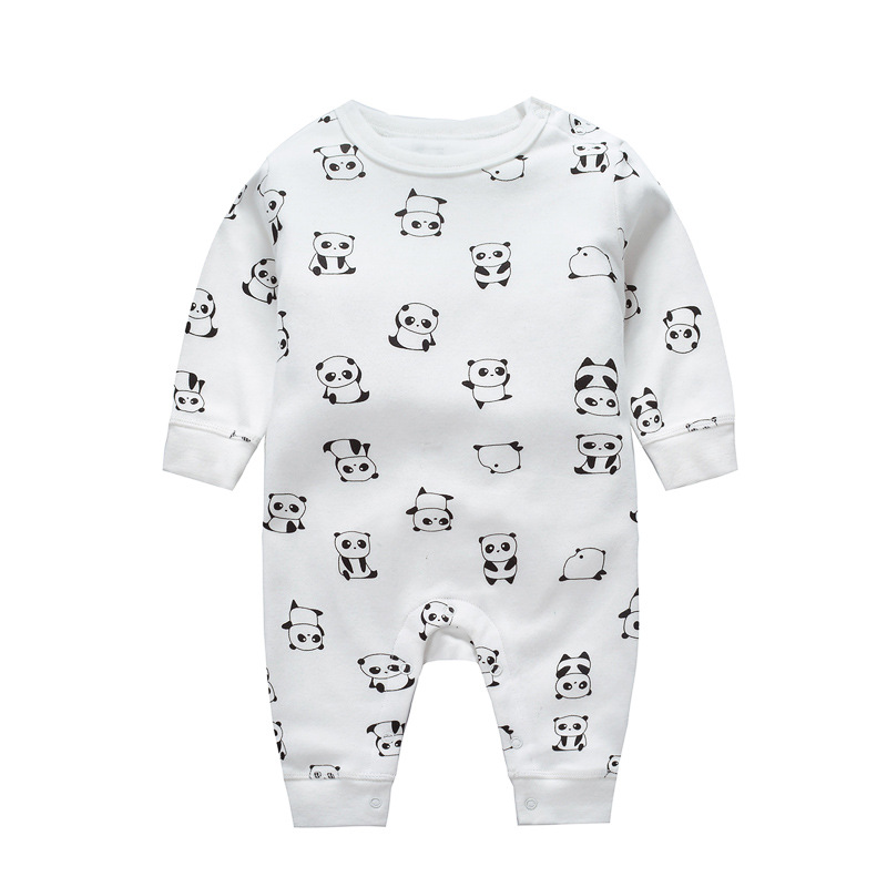 CalaBob 2018 New Baby Boy Girl Romper Clothes Long Sleeve Newborn Jumpsuits Cartoon Printed Baby Costume Infant Clothing