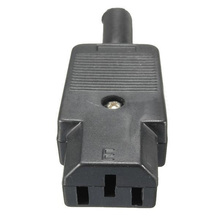 5PCS IEC 320 C13 Female Plug Adapter 3pin Socket Power Cord Rewirable Connector