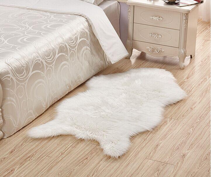 Měkká ovčí kůže židle rohož teplá chlupatá koberec sedák podložka hladká kůže kožešina hladká načechraná oblast koberečky omyvatelná ložnice umělá podložka