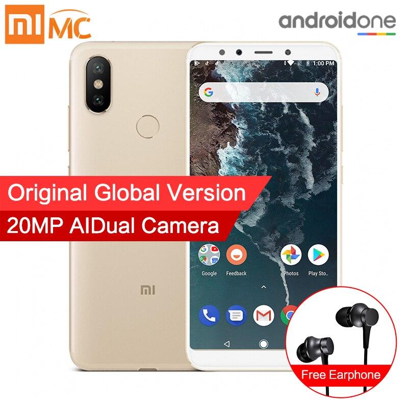 Глобальная версия Xiaomi Mi A2 4 ГБ 32 ГБ смартфон 20.0MP AI двойной Камера 5,99 18:9 полный Экран Snapdragon 660 восьмиядерный металлический корпус