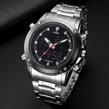 HPOLW Men Sports Watches Electronic Large Watch Stainless Steel Fashion LED Digital Wristwatches Male Clock Relogio Masculino