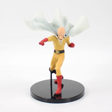19cm One Punch Man Figure Toy Saitama Sensei DXF Anime Hero Model Doll Gift for Children