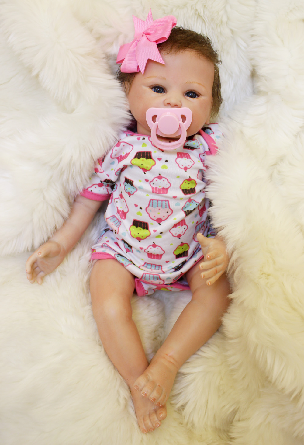 45cm Lovely high quality soft baby reborn doll Silicone cotton dolls the best birthday New Year gift for children kids toy lovely sing dance dog toy pusheen cotton soft plush hold doll antistress for children baby