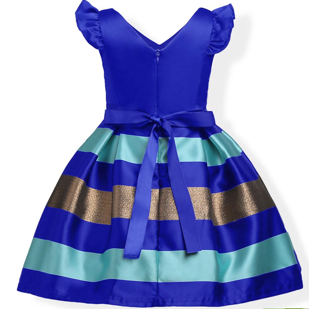 Baby Girls Striped Dress For Girls Formal Wedding Party Dresses Kids Princess Christmas Dress Costume Children Girls Clothing 4