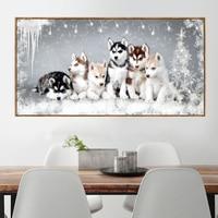 D SH Diy Diamond Painting Huskies Dogs Full Drills Mosaic Rhinestone Embroidery Cross Stitch Kit Needlework