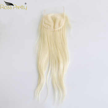 Ross Pretty Remy Human Hair Bundles With Lace Closure Malaysian Straight Hair Blonde Pre plucked Closure With Hair bundle 613