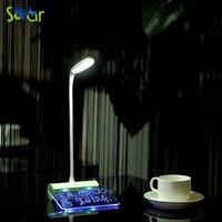 Оставив сообщение, СВЕТОДИОДНЫЕ Настольные Лампы Складной Затемнения Luminaria-де-меса Чтение Night Light Для Компьютера Главная Исследования