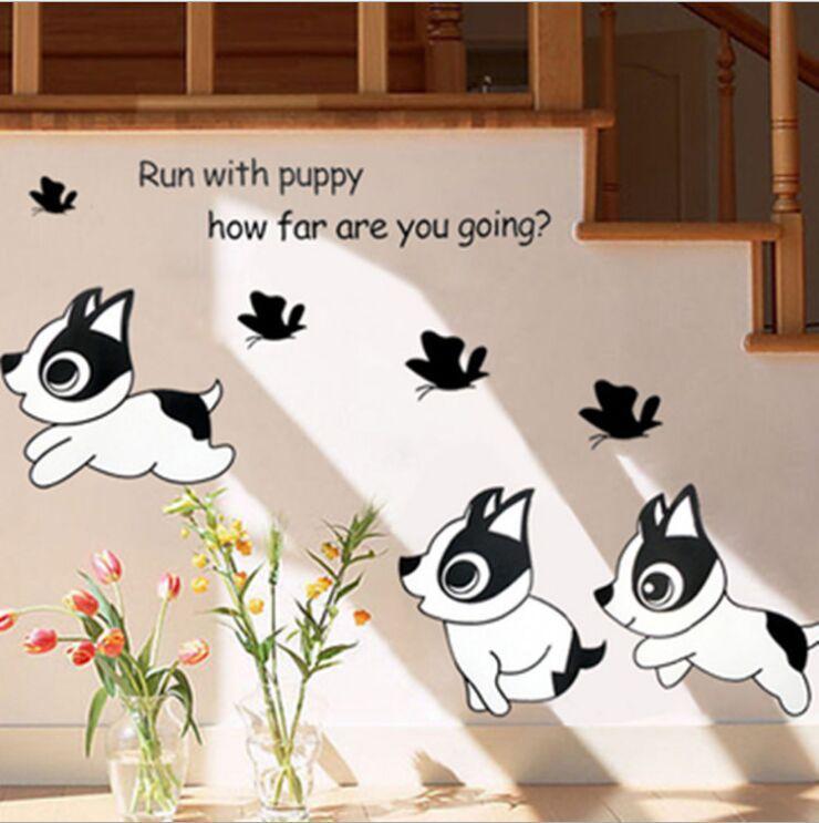 The Lion Monkey Panda Wall Stickers Children 39 S Cartoon Height Bedroom Decoration Vinyl China
