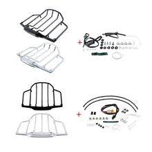 Motorcycle Tour Pack Luggage Rack LED Light For Harley Touring Road King Road Street Glide Electra Glide 1993 2013 2014 2020