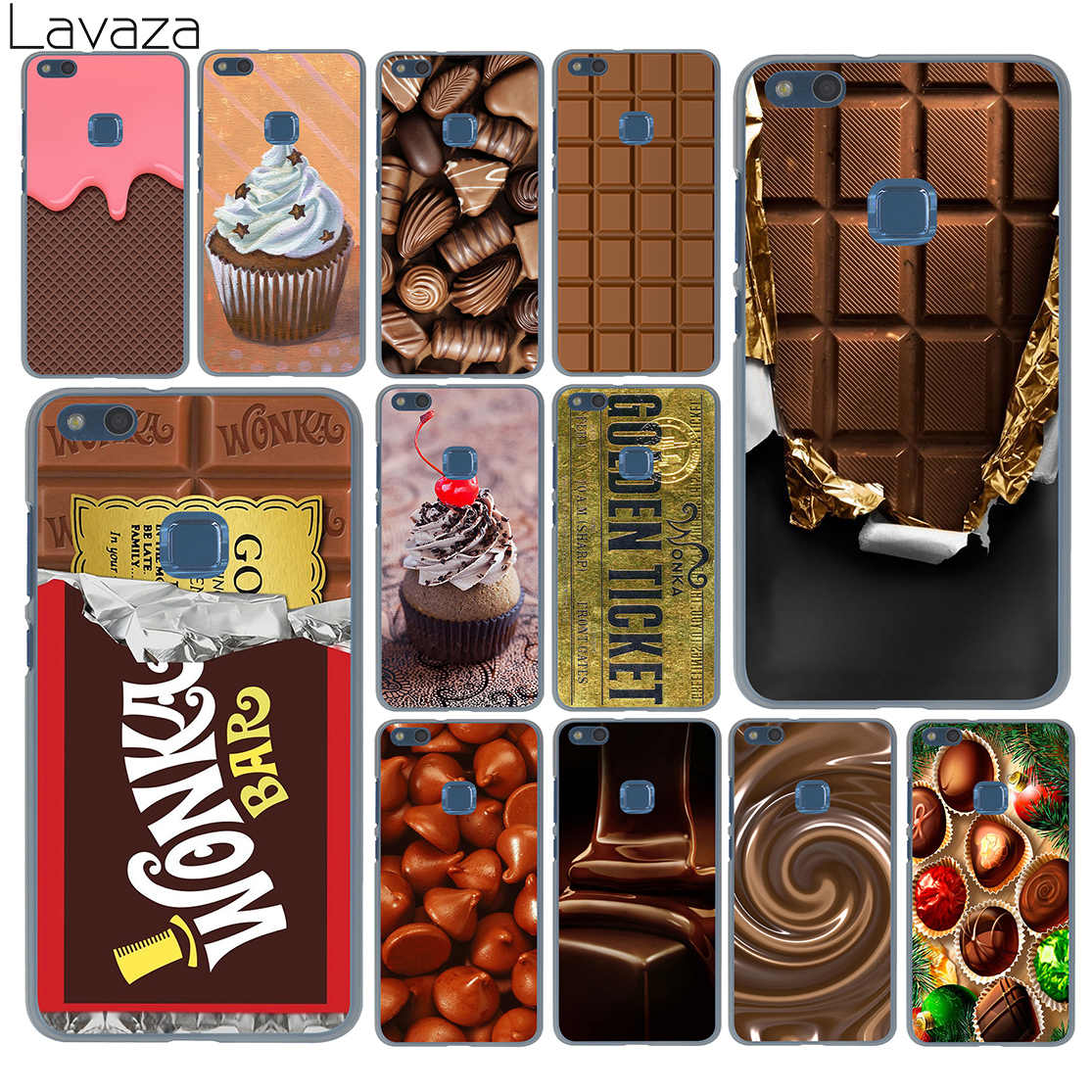 Chocolate Willy Wonka Bar With Golden Ticket Case For Huawei P30 P20 Pro P9 P10 Plus P8 Lite Mini 2016 2017 P Smart Z 2019