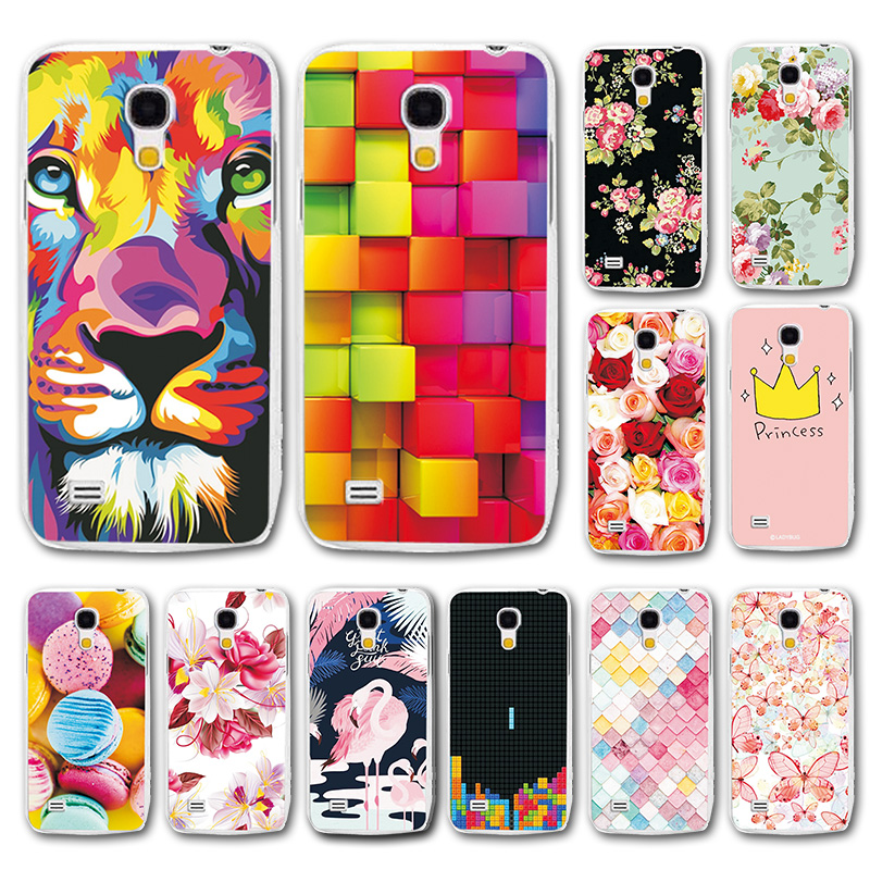Various Patterned Shell For Samsung S4 mini 4.3'' Cover Coqu S4mini Soft TPU Cases For Samsung Galaxy S4 Mini I9190 Fundas Capa image