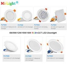 6W/9W/12W/15W/18W RGB+CCT LED Downlight AC110V 220V Dimmable Ceiling Spotlight FUT062/FUT063/FUT066/FUT068/FUT069