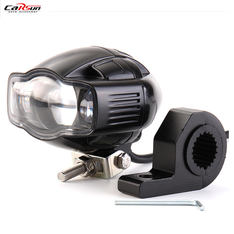 CARSUN 9-85V 20W 2000LM 6000K Universal Motorcycle Car Headlight Lamp LED Super Bright Fog light USB Charger For Yamaha 20w 2000lm 6000k cob led white light module silver yellow 32 36v