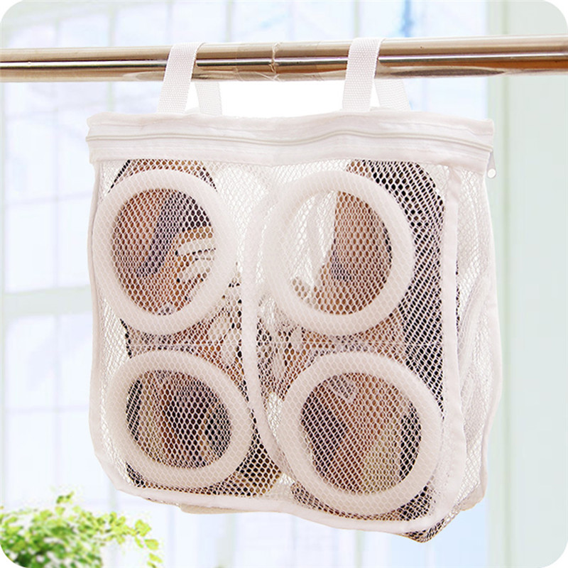 1pc Mesh Laundry Shoes Bags Dry Shoe Organizer Portable Laundry Washing Bag Storage Collection Dry Mesh Bag Organizer