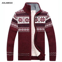 Men Sweater Fashion Autumn Winter Wool Cardigan Men S Casual Thick Warm Sweater Male 2016 AFS