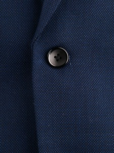 Image 3 - 紺くぎの頭ビジネス男性スーツカスタムメイドスリムフィットウールブレンド鳥の目の結婚式のスーツ、テーラーメイド新郎スーツ