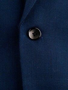Image 3 - Costume daffaires pour homme, bleu marine, costume daffaires, Slim, sur mesure, costume de mariage avec œil doiseau en laine