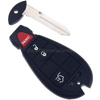 Replacement 4 Buttons Car Remote Key Fob Keyless Entry Transmitter Uncut Blade Key For Jeep Commander