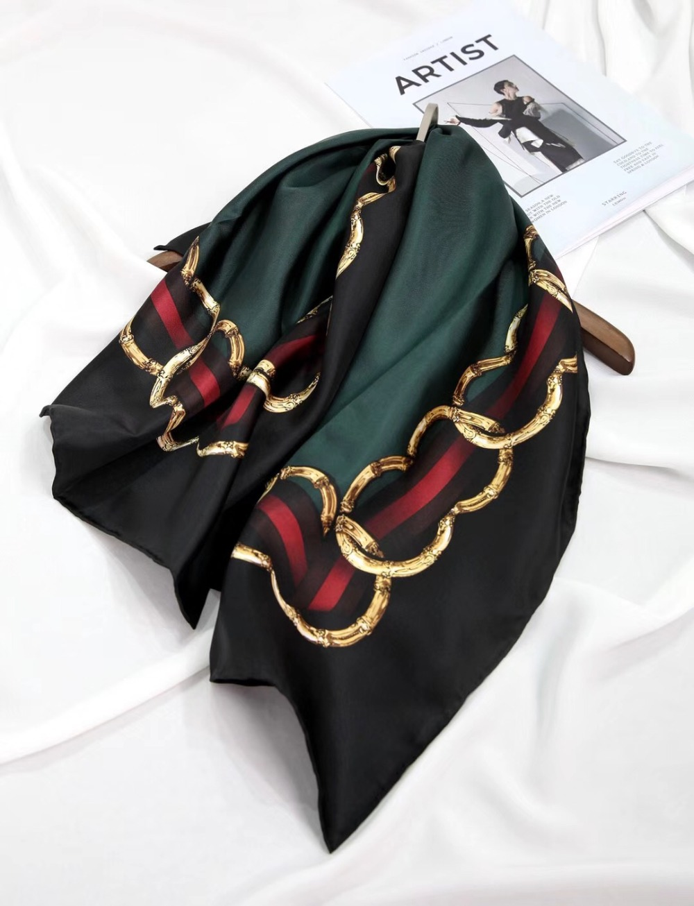 2019 New Arrival Fashion Elegant Brand 100% Silk Scarf 90*90 Cm Square Shawl Hand Made Roll Wrap For Women Lady Free Shipping