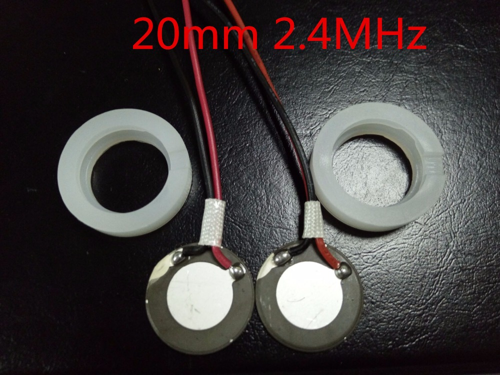 2 PCS 20mm 2.4Mhz Ultrasonic Mist Maker Fogger Atomizing Transducer Oscillating Blade Piezoelectric Ceramic Air Humidifier Acces