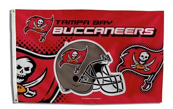 ₪Envío Gratis Tampa Bay Buccaneers bandera casco edición NFL bandera ...
