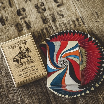 1 Deck Deluxe Lone Star Deluxe Playing Cards Poker Size Deck USPCC Custom Limited Edition New Sealed Magic Props фото